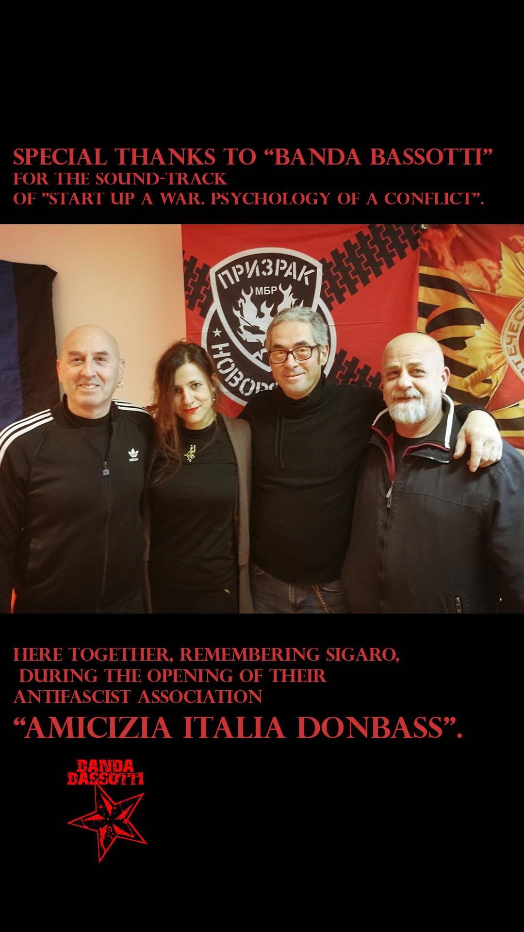 Sara Reginella | Banda Bassotti Antifascist Association Amicizia Italia Donbass