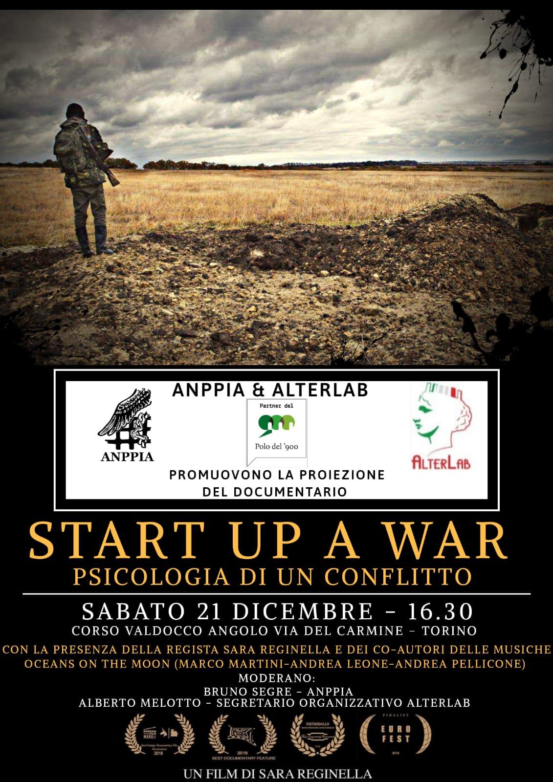Sara Reginella | Start up a War documentario proiezione Torino
