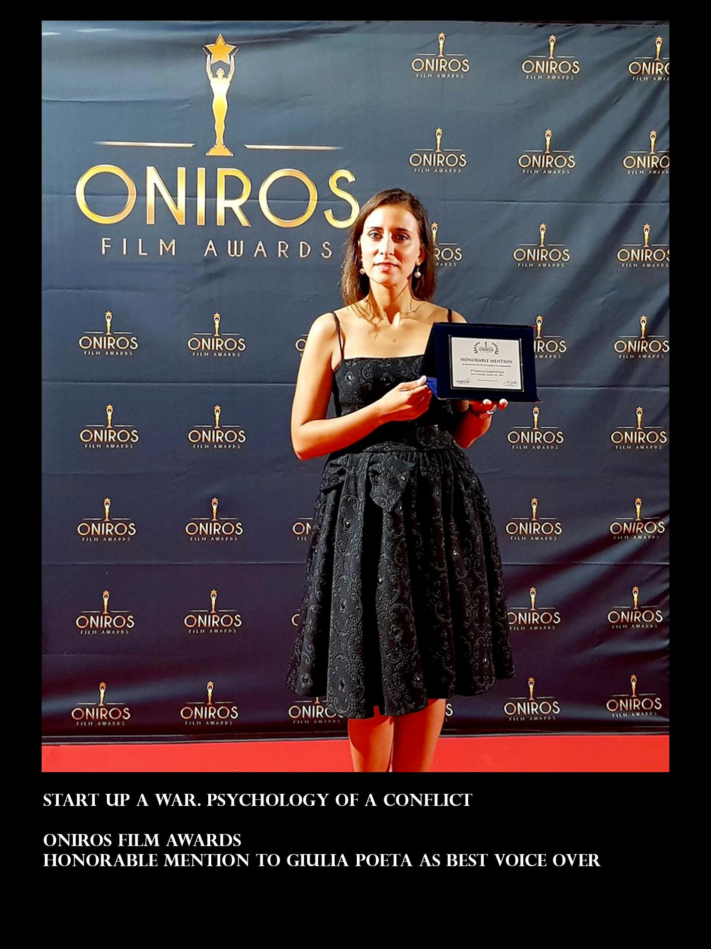Sara Reginella   Best Voiceover Giulia Poeta Oniros Film Awards
