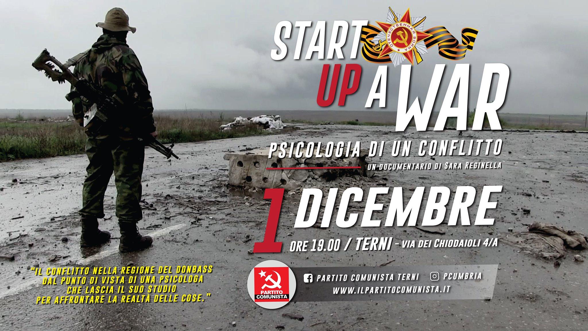 Sara Reginella   Start up a War documentario proiezione Partito Comunista Terni