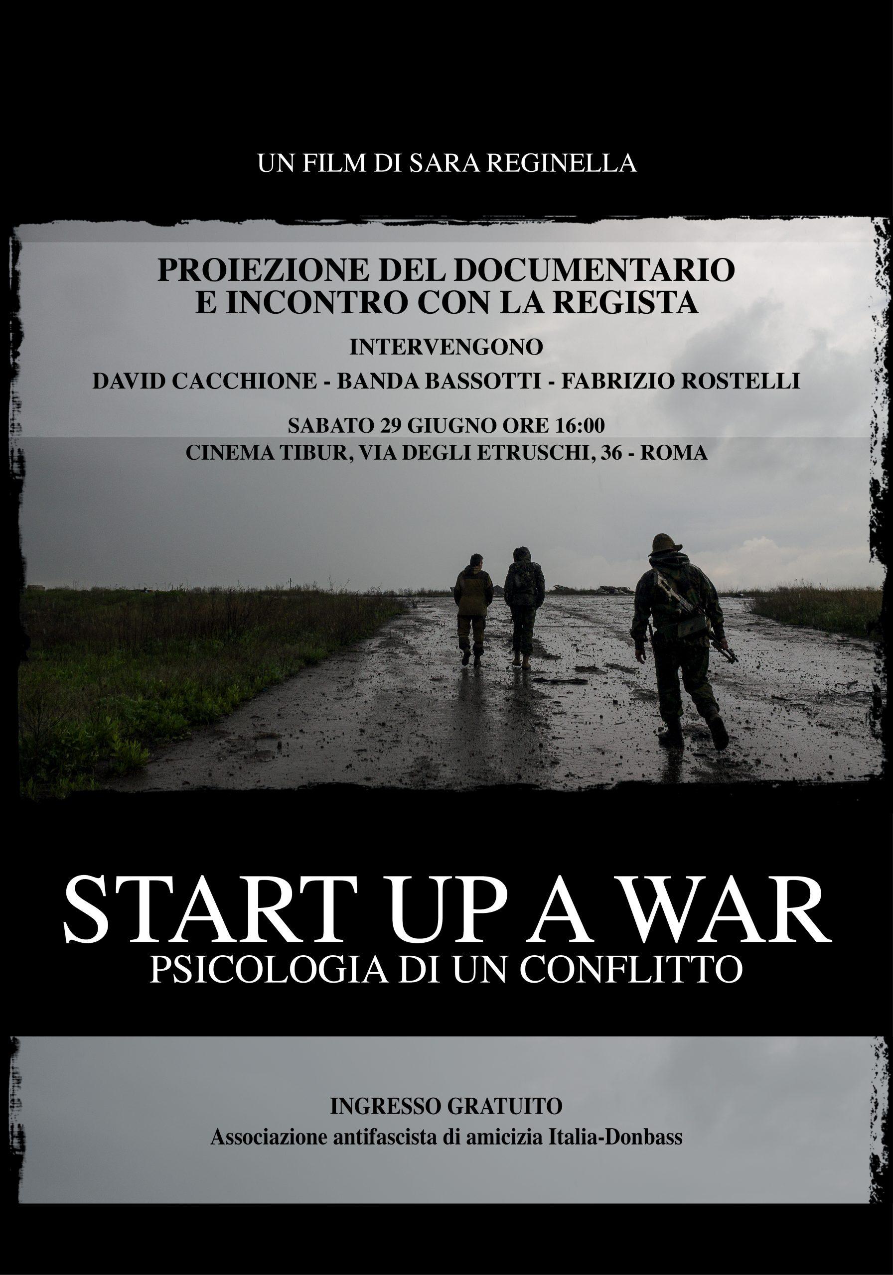 Sara Reginella   Start Up a War Cinema Tibur Roma