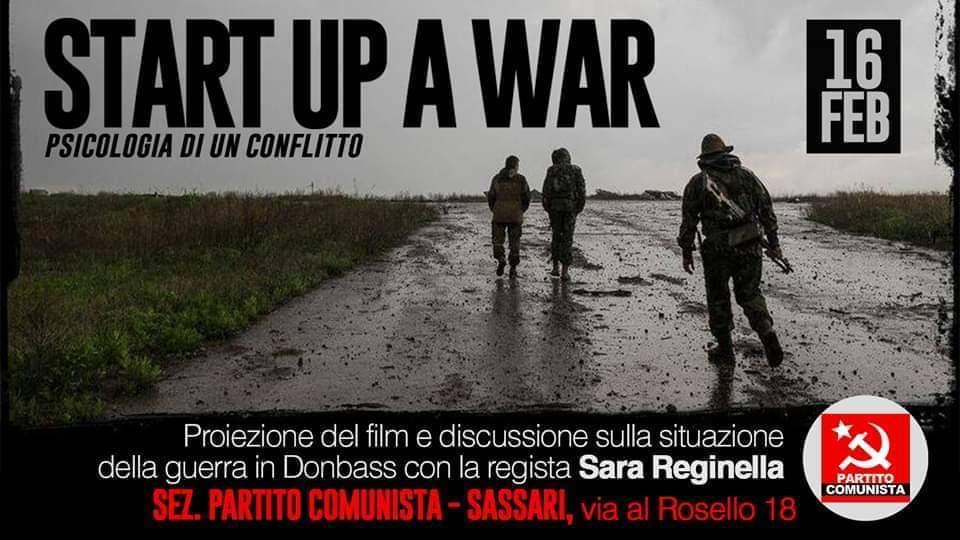 Sara Reginella   Start Up a War Proiezione documentario Sezione Partito Comunista Sassari