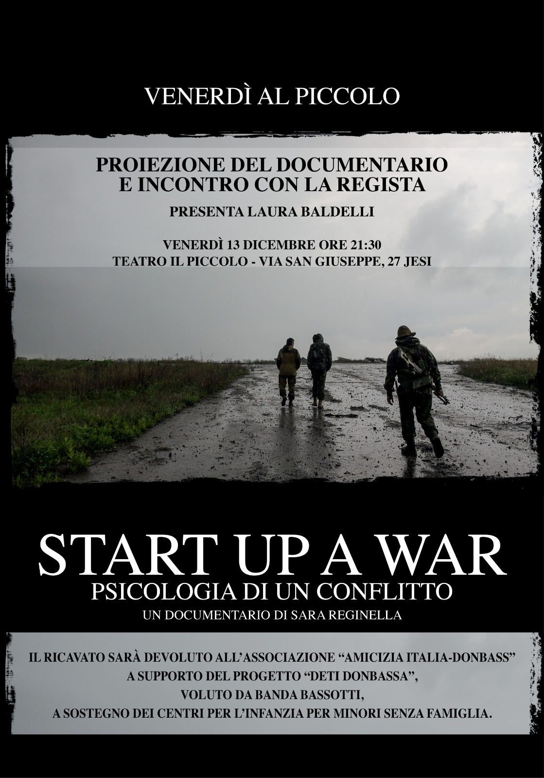 Sara Reginella | Start up a War documentario proiezione Jesi
